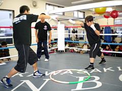 新田ジムエアボクシング風景